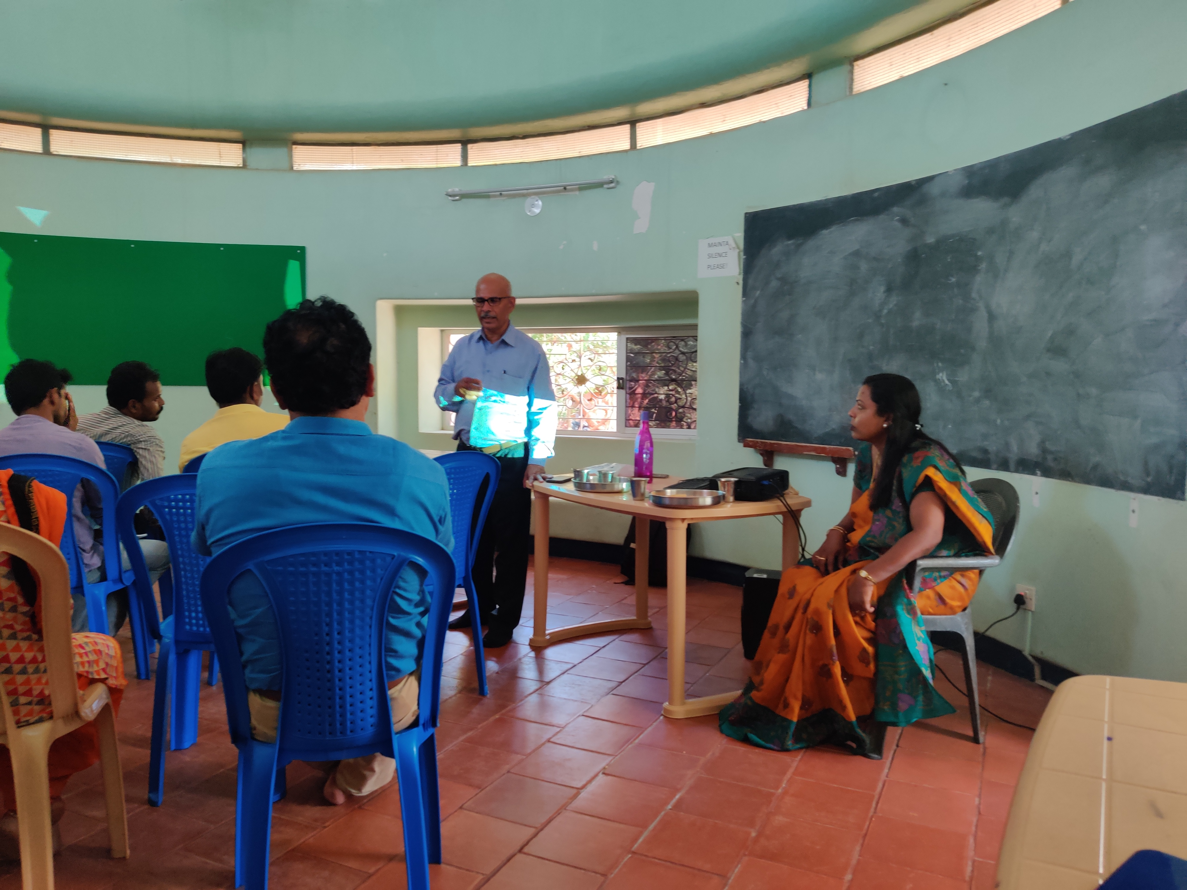 Life skills and adolescent education conducted by Mr. Sathish – Ex-director of Nehru Yuva Kendra Sangathan